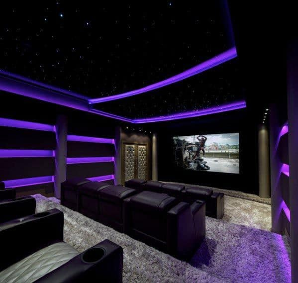 Home Theater Design And Ideas: Top 40 Best Home Theater Lighting Ideas