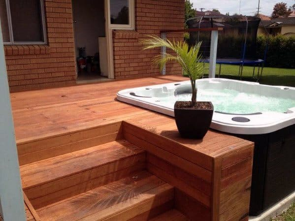 Ideas For Hot Tub Deck Backyard