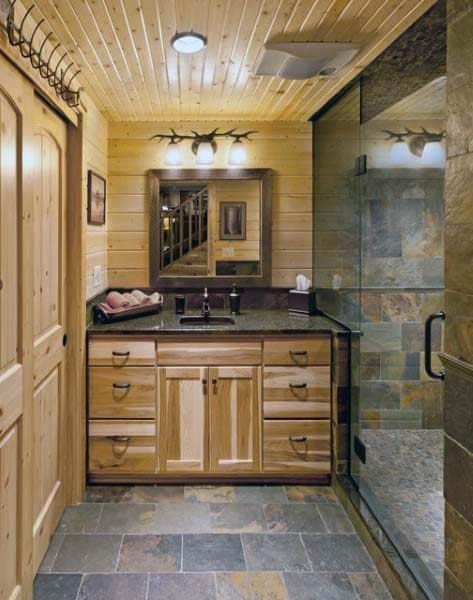 Ideas For Rustic Bathroom Designs