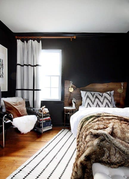 dark boho apartment bedroom ideas