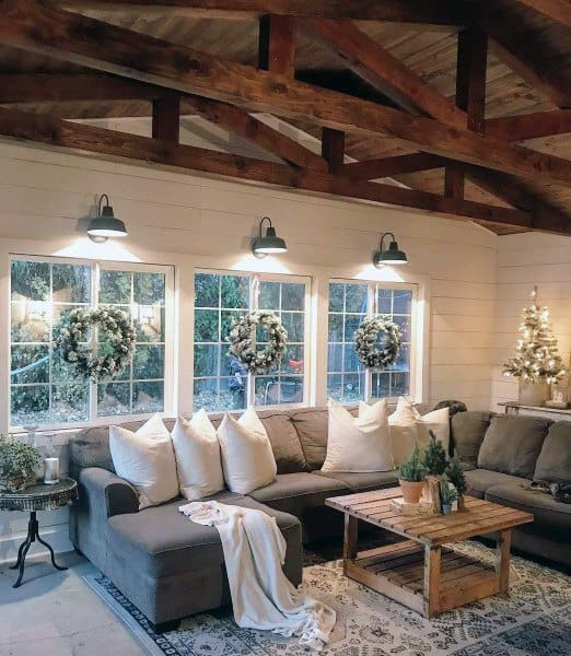 Interior Decor Ideas For Living Rooms: Top 60 Best Rustic Living Room Ideas