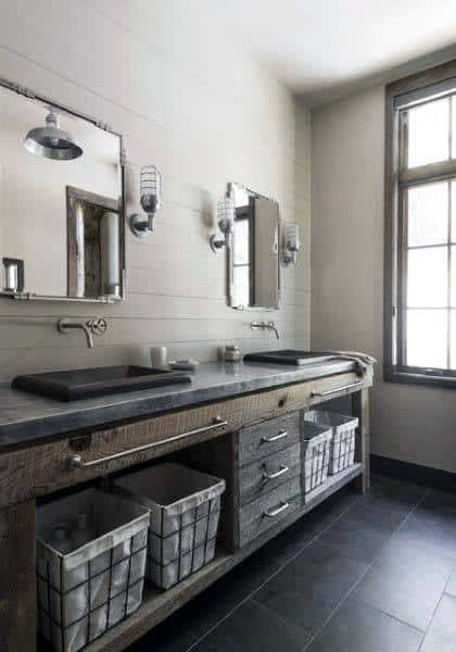 Ideas For Rustic Mirrors For Bathrooms
