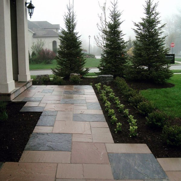 Ideas For Stone Walkway Exterior