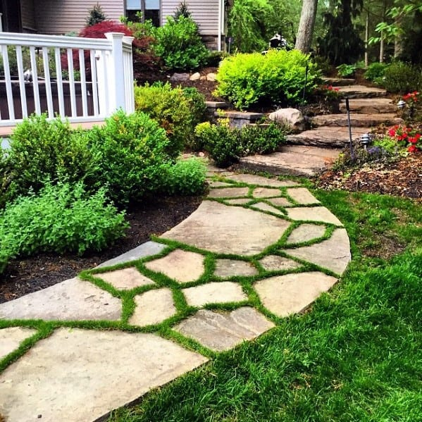 Top 60 Best Stone Walkway Ideas Hardscape Path Designs