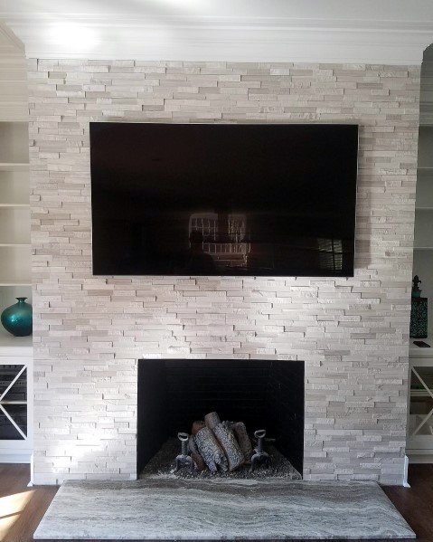 Ideas For Wood Burning Fireplace Tiles