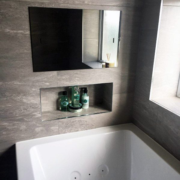Ideas Grey Bathroom Tile