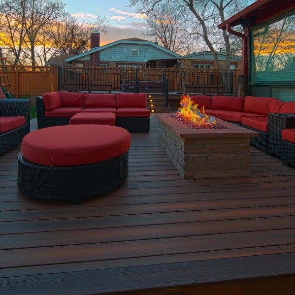 Ideas Hot Tub Deck With Fire Pit