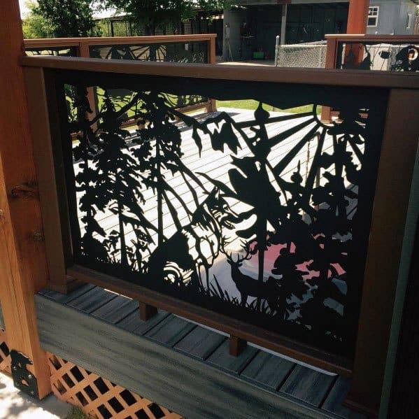 Ideas Metal Cut Out Deck Railing