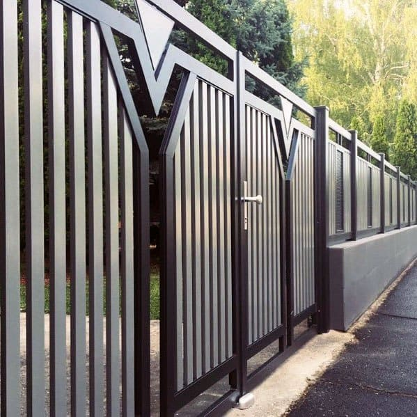 Ideas Modern Fence Metal Design