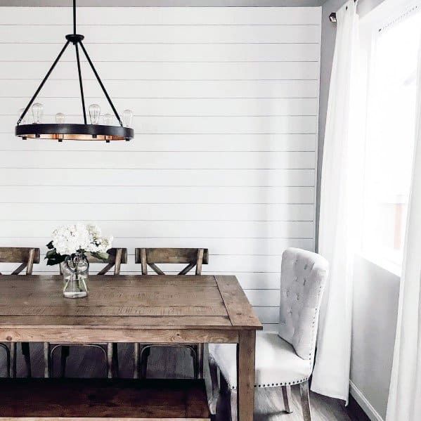 Ideas Shiplap Wall White Dining Room