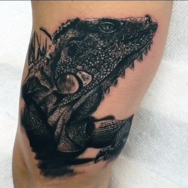 Iguana Male Tattoos