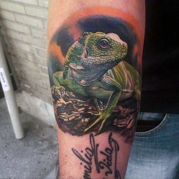 Iguana Mens Tattoo Ideas