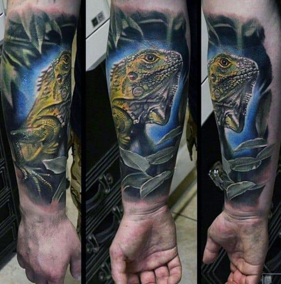 Iguana Tattoo Design Ideas For Males