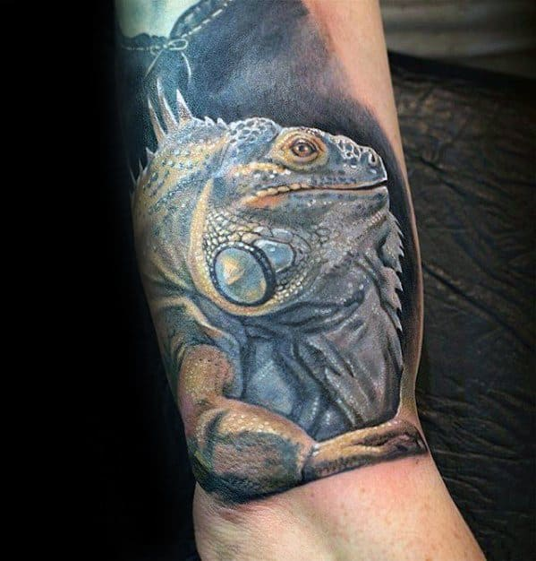 Iguana Tattoo Designs For Guys