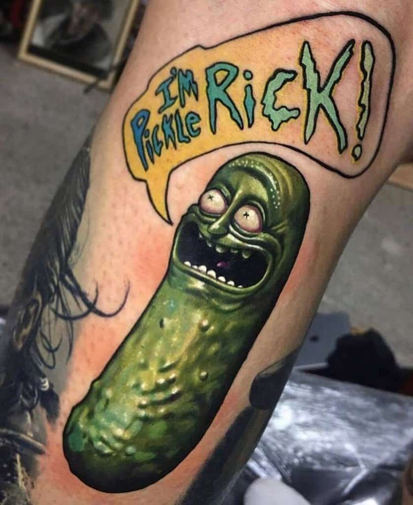 Im Pickle Rick And Morty Skin Art Funny Tattoo