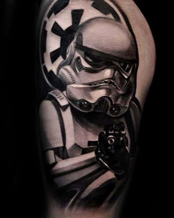 100 stormtrooper tattoo designs for men star wars ink ideas. Black Bedroom Furniture Sets. Home Design Ideas