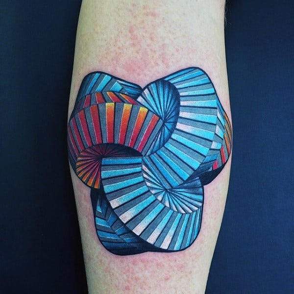 Impossible Object Optical Illusion Mens Tattoo On Arm