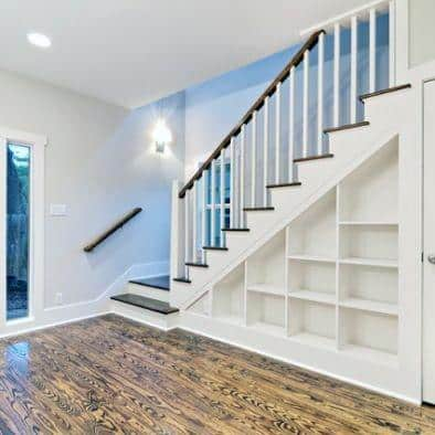 Impressive Basement Stairs Ideas With Bookcase