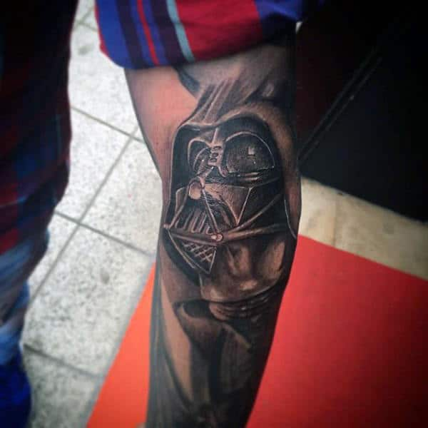 Impressive Darth Vader Tattoo Male Legs