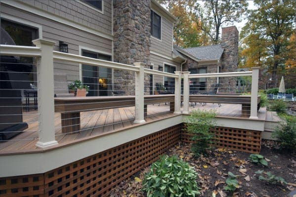 Impressive Deck Skirting Ideas Wood Lattice