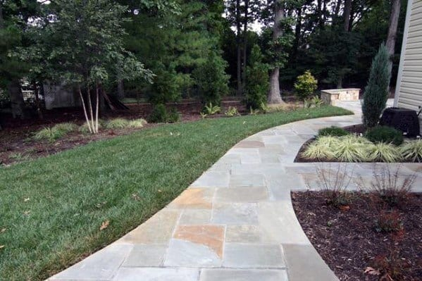 Impressive Flagstone Walkway Ideas Side Of House