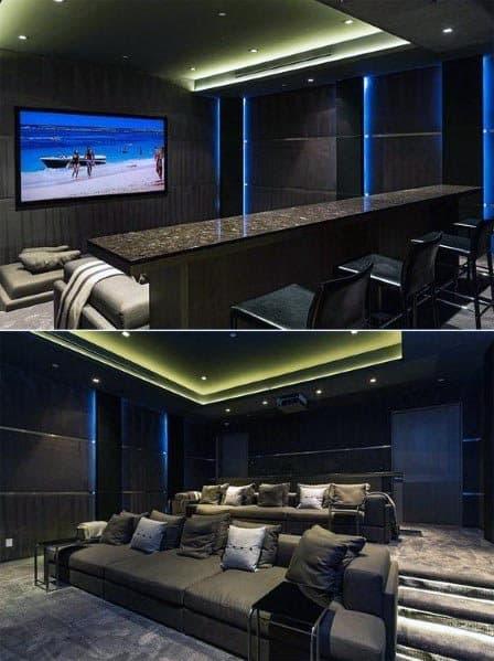 Top 40 Best Home Theater Lighting Ideas Illuminated