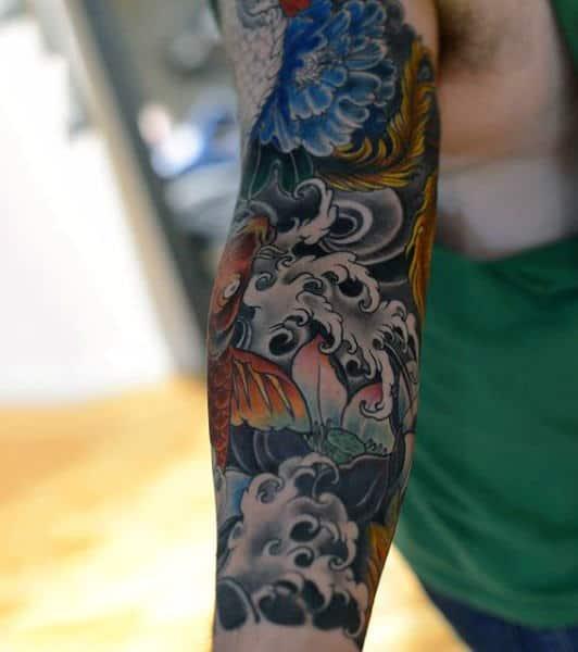 Impressive Japanese Sleeve Tattoo For Men