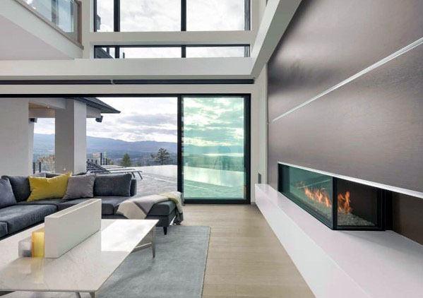 Impressive Linear Fireplace Ideas