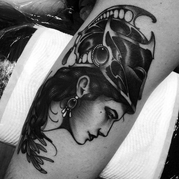 Impressive Male Athena Tattoo Designs