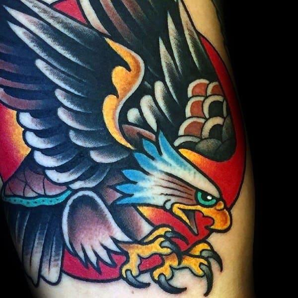Impressive Male Badass Eagle Tattoo Designs