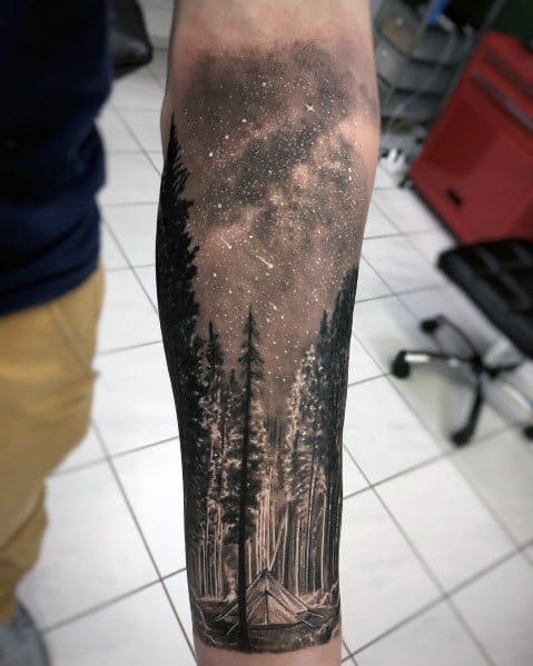 Impressive Male Cool Tree Tattoo Designs