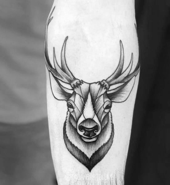 Impressive Male Elk Tattoo Designs
