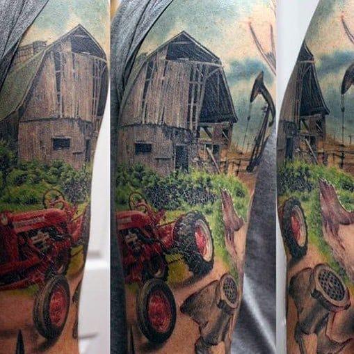 Impressive Male Farming Tattoo Designs