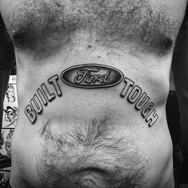 Impressive Male Ford Tattoo Designs