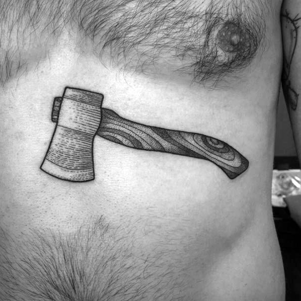 Impressive Male Hatchet Tattoo Designs