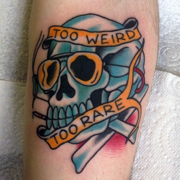 Impressive Male Hunter S Thompson Tattoo Designs