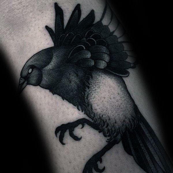 Impressive Male Magpie Tattoo Designs