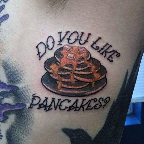 Impressive Male Pancake Tattoo Designs