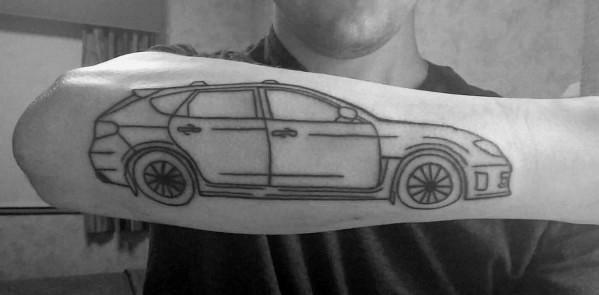 Impressive Male Subaru Tattoo Designs