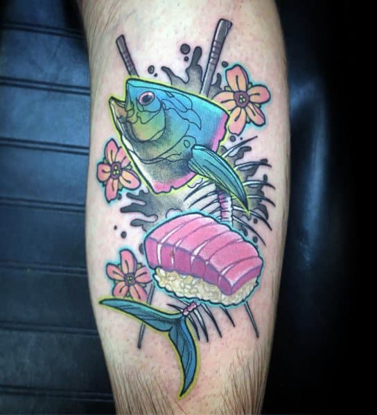 Impressive Male Tuna Tattoo Designs