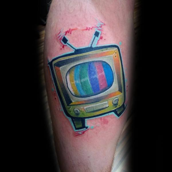 Impressive Male Tv Tattoo Designs