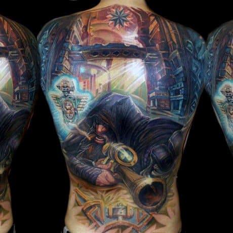 Impressive Male World Of Warcraft Tattoo Designs