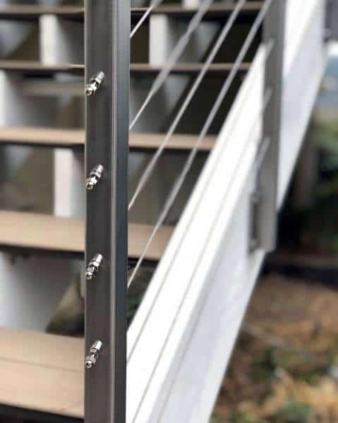 Impressive Metal Deck Wire Railing Ideas