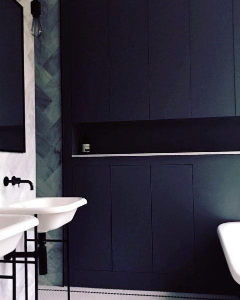 Impressive Navy Blue Bathroom Ideas