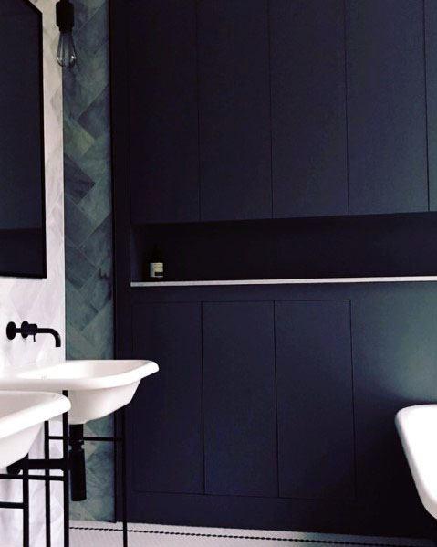 Impressive Navy Blue Bathroom Ideas