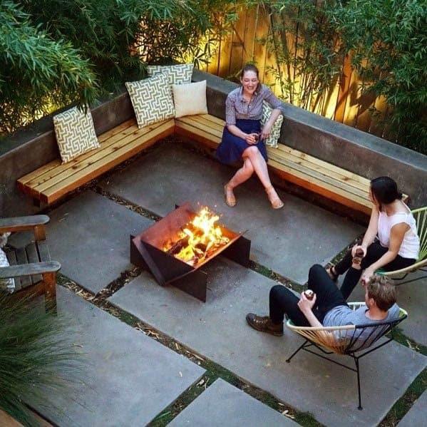 Impressive Patio Firepit Ideas Modern