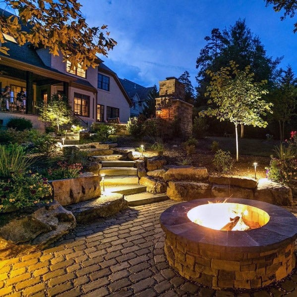 impressive-paver-patio-ideas-sloped-backyard Ideas Backyard Small Landscaping Sloped on front yard garden design ideas, small sloped backyard hardscape, small sloped backyard retaining walls, landscaping with rock garden ideas, small landscaping ideas on a hillside, small backyard pool landscaping ideas,
