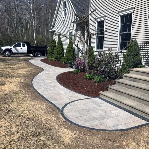 Impressive Paver Walkway Ideas For Front Of House