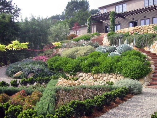 Top 50 Best Slope Landscaping Ideas - Hill Softscape Designs on Backyard With Slope Ideas id=32827