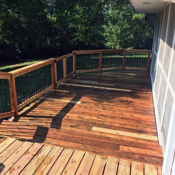 Impressive Wood Deck Hinged Gate Ideas